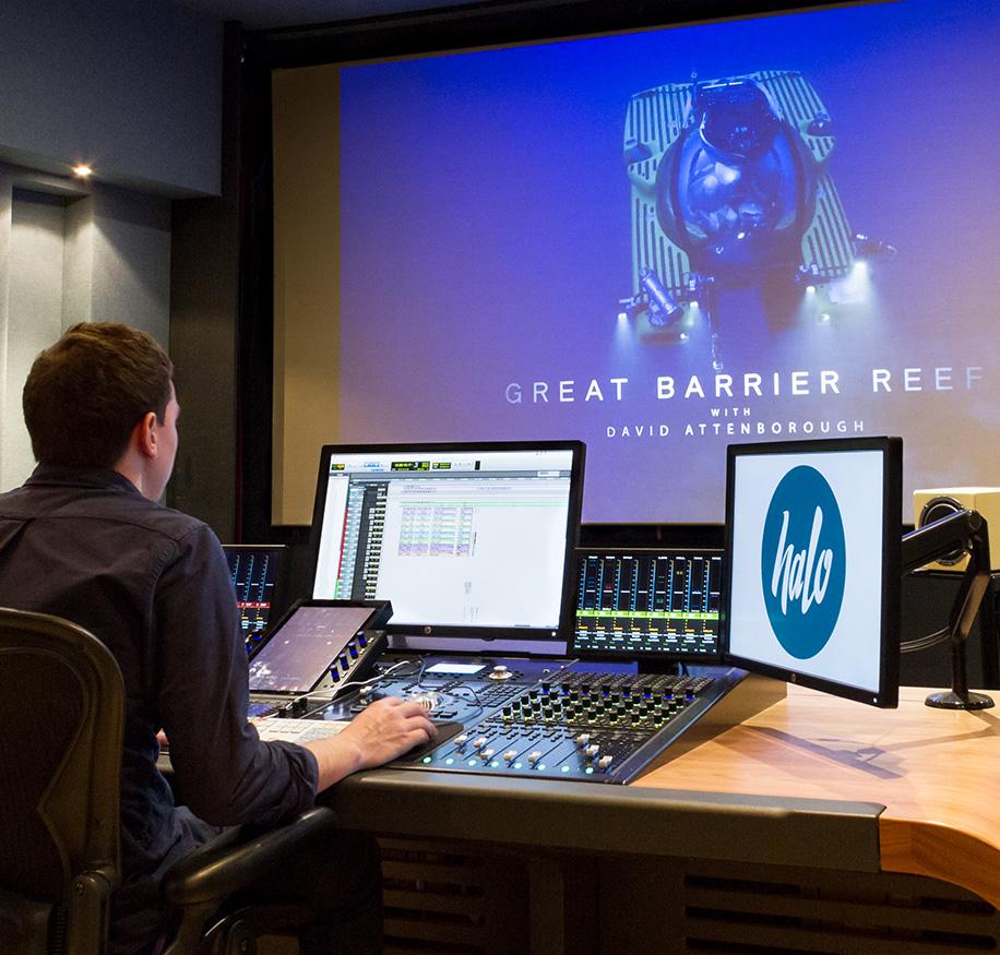 Audio studio at Halo