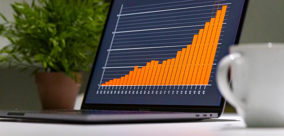 Chart on MacBook