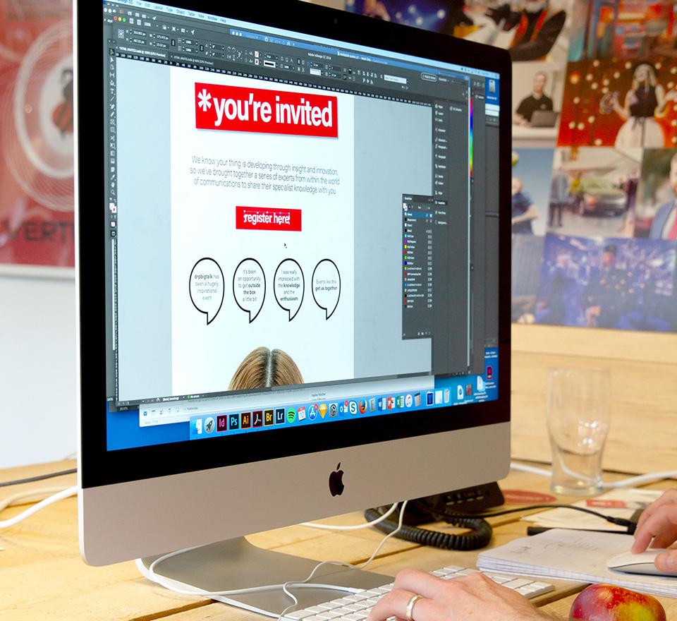 Adobe software on an iMac