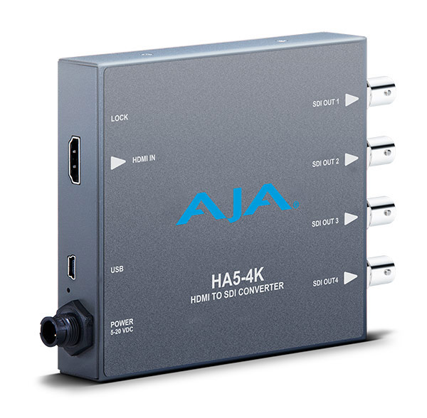 AJA HA5-4K Mini Converter 4K HDMI to 4K SDI