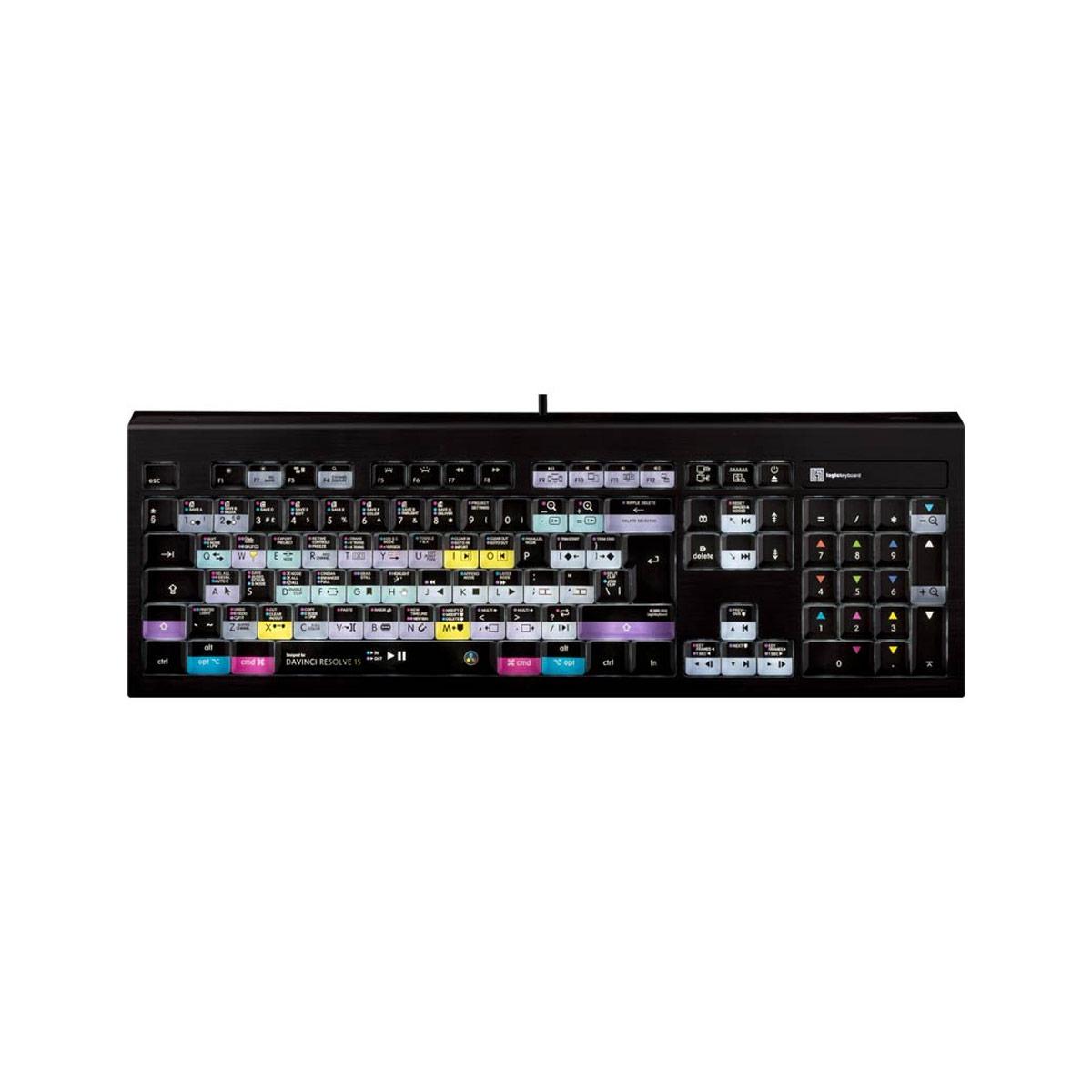 Logickeyboard DaVinci Resolve 15 Mac Backlit Astra Keyboard - UK