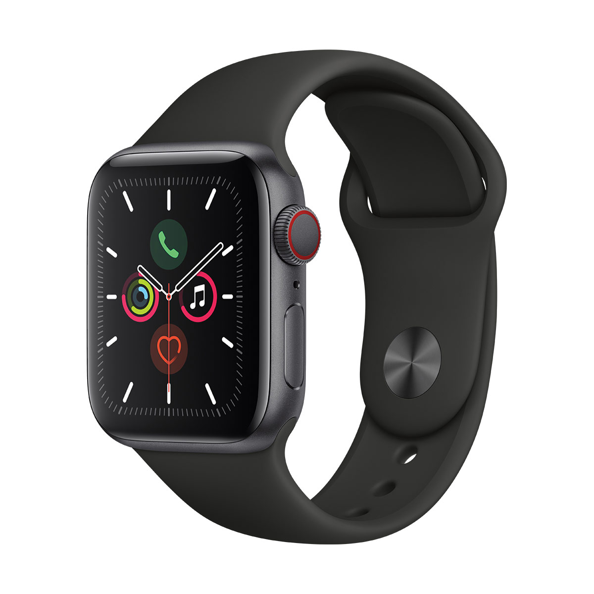 Apple Watch S5 40mm Space Grey Aluminium with Black Sport Band + GPS