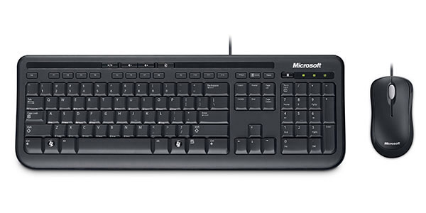 microsoft wired desktop 600 keyboard and mouse set jigsaw24. Black Bedroom Furniture Sets. Home Design Ideas