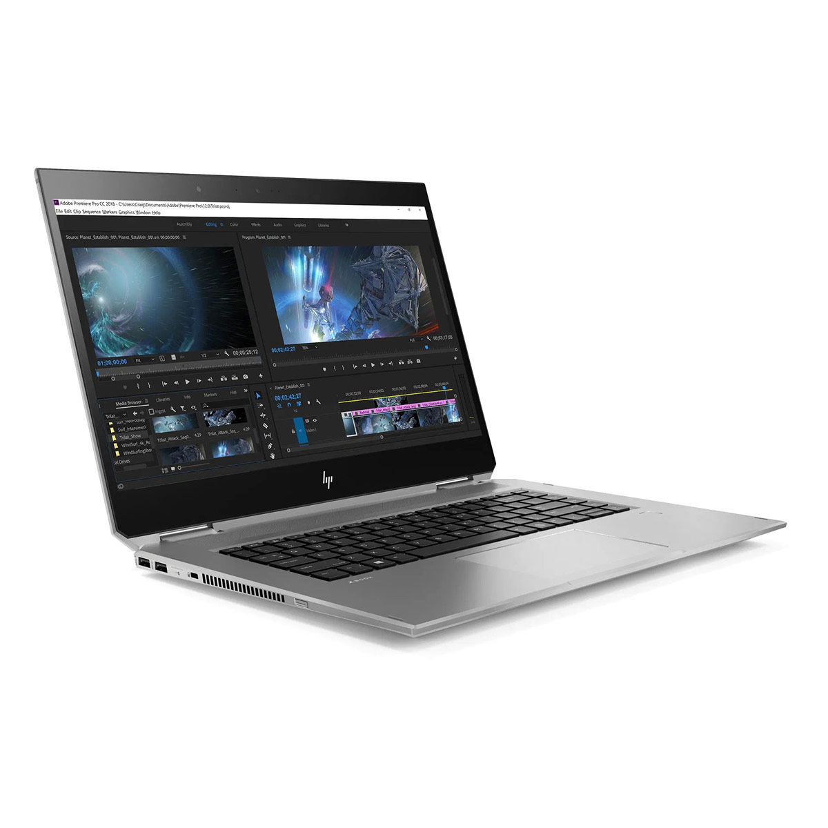 "HP Zbook Studio X360 G5 - i7-9850H, 16GB, 512GB, 15.6"" UHD, P2000"