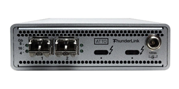 Atto ThunderLink FC 3162 - 2 x Thunderbolt 3 to 2 x 16Gb/s FC Adapter