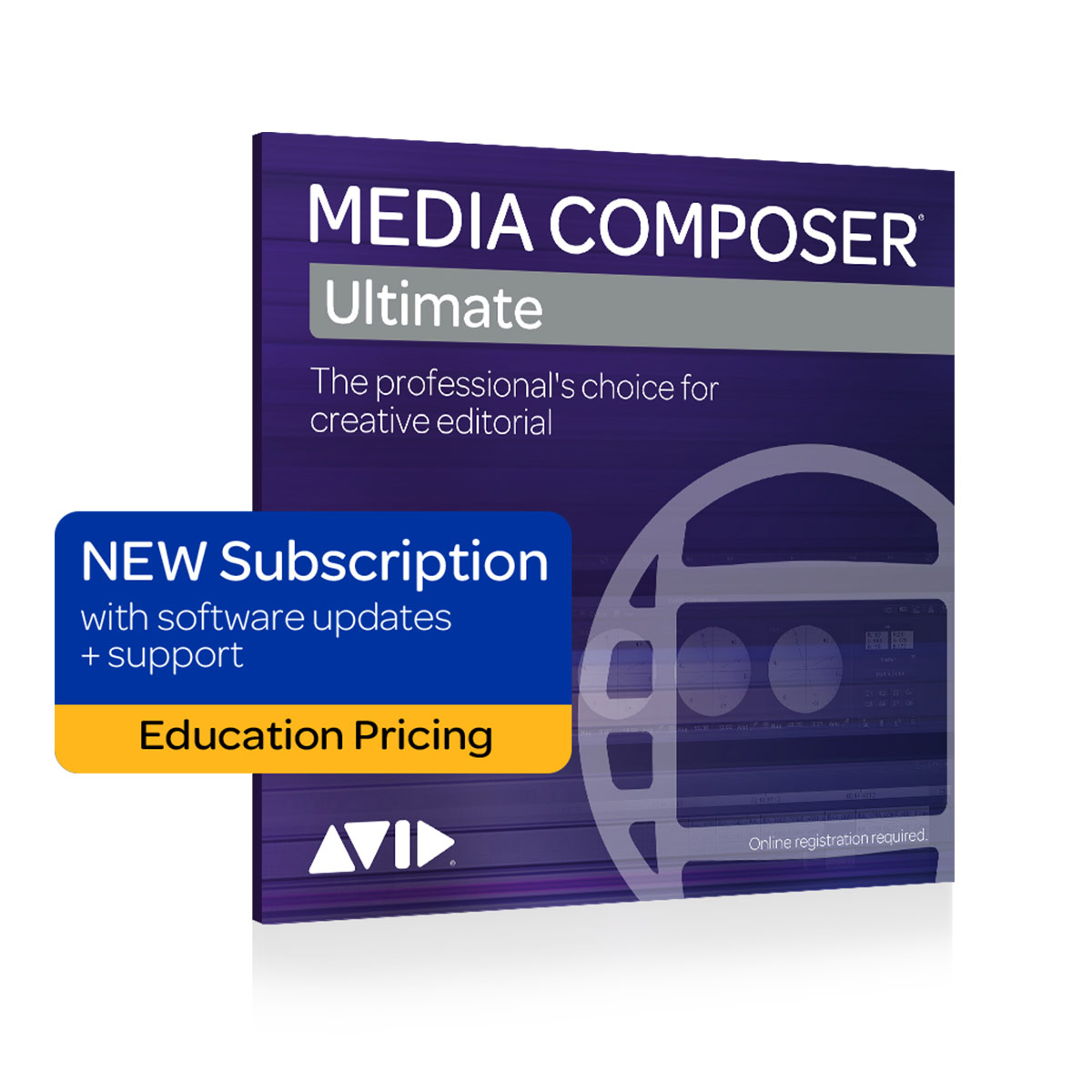 Avid Media Composer | Ultimate 1-Year Subscription - Education Pricing