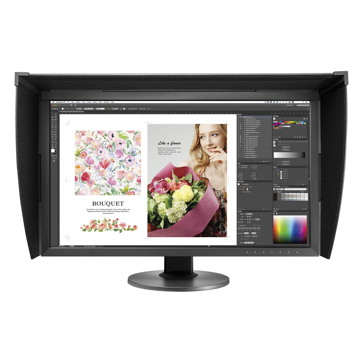 "EIZO 27"" ColorEdge CG2730 Self-Calibrating Display with Hood"