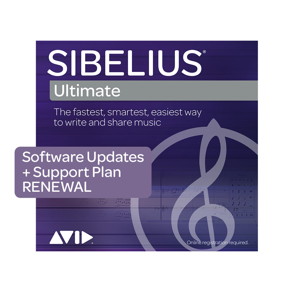 Sibelius | Ultimate 1 Year Software Update and Support Plan Renewal