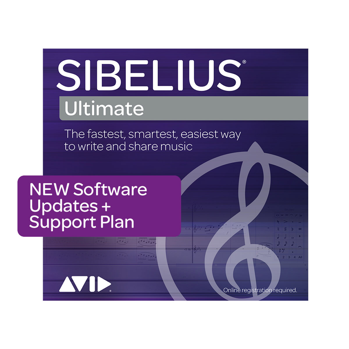 Sibelius Ultimate 3 Year Software Upates and Support Plan - NEW Plan