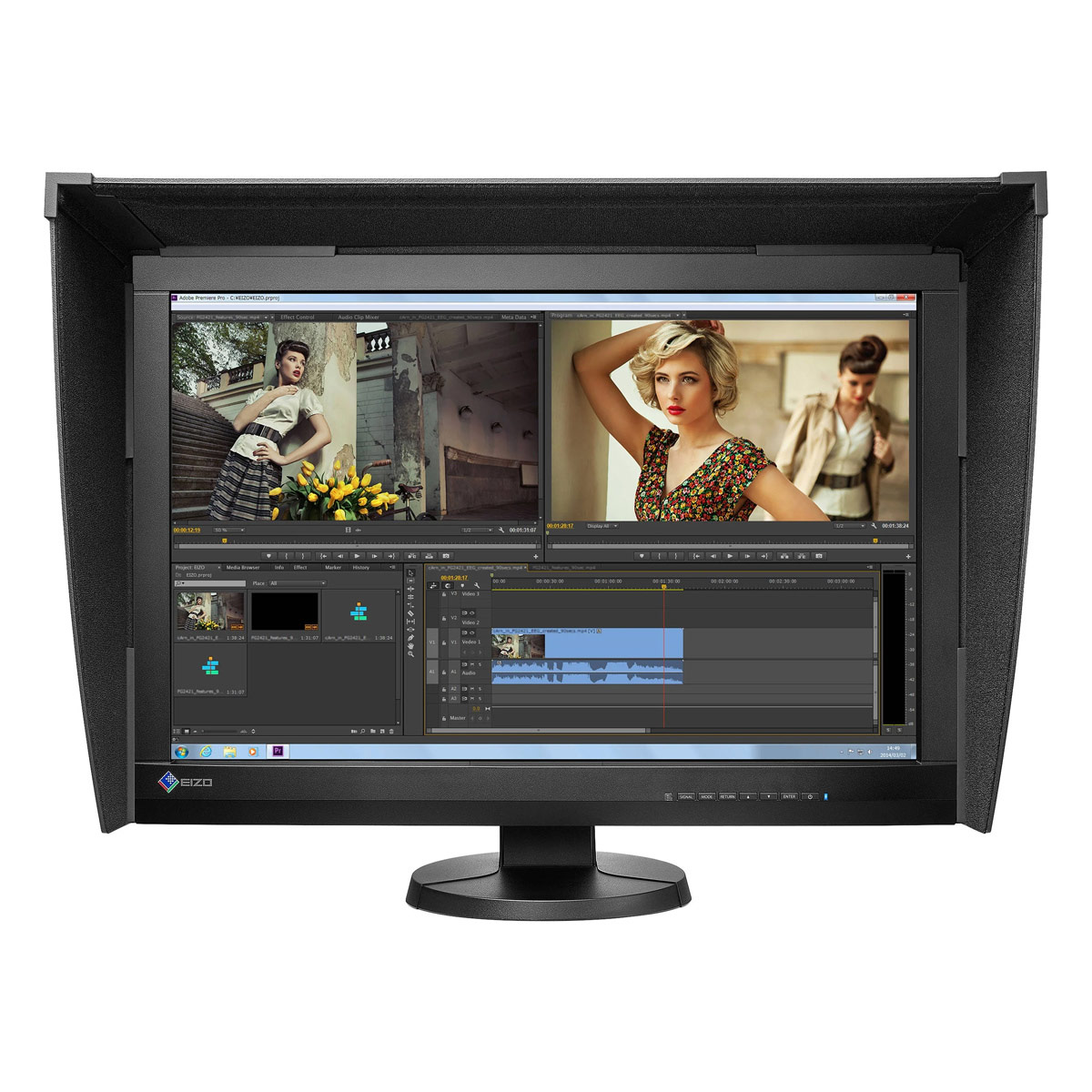 "EIZO 24"" ColorEdge CG247x Self-Calibrating Display with Hood"