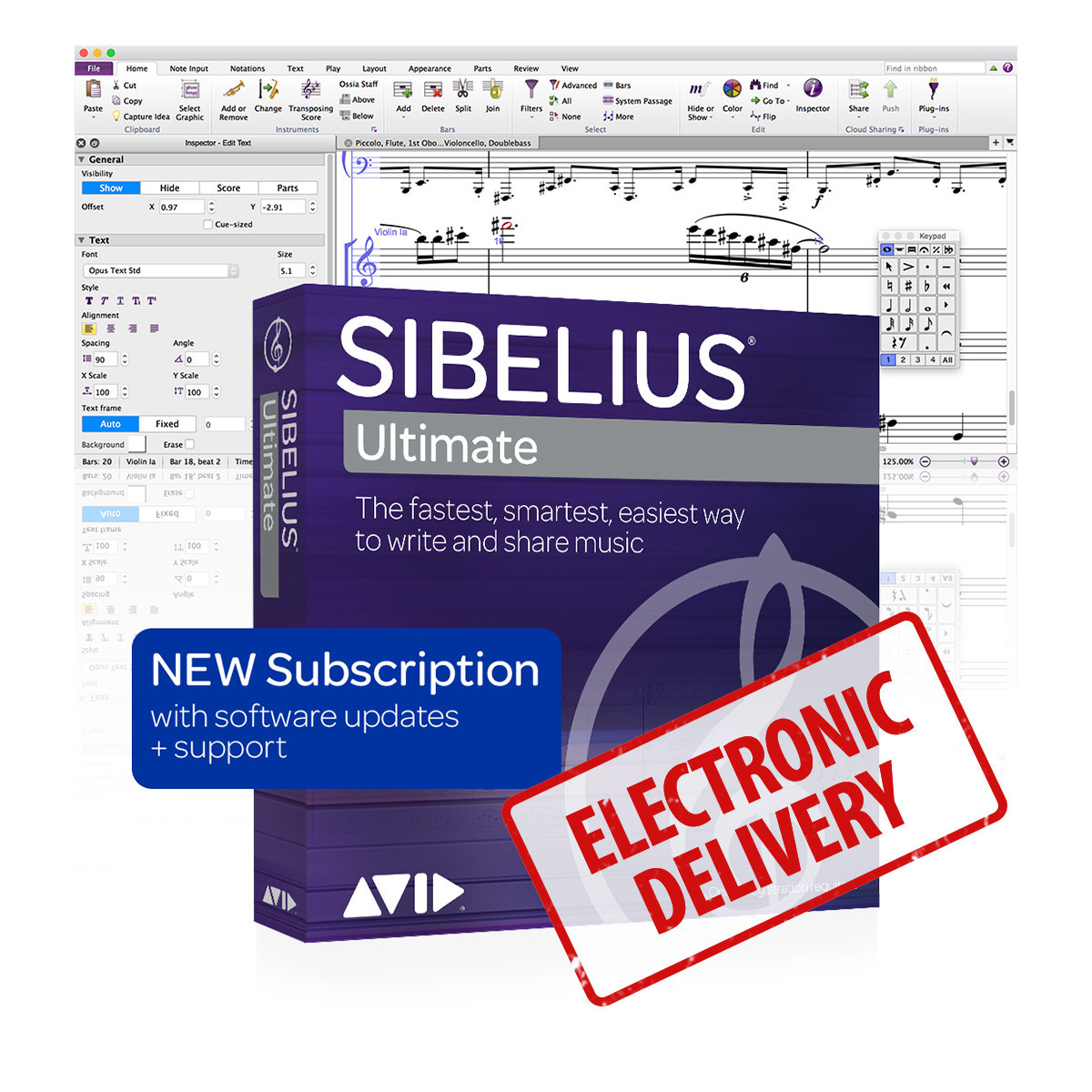 Sibelius Ultimate - Annual Subscription License