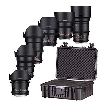 Samyang VDSLR MK II Cine 14/24/35/50/85/135mm Canon EF Lens Kit image 1