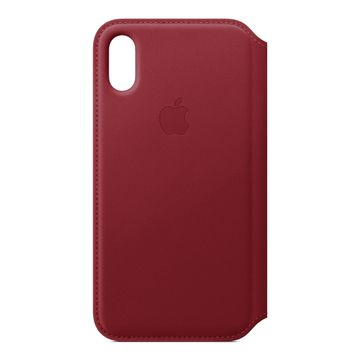 cheap for discount 64b5c 1dfed Apple iPhone Xs Leather Folio Case - (PRODUCT)RED