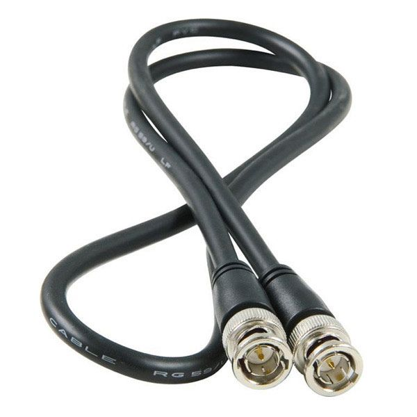 0.5M BNC PLUG TO BNC PLUG COAX CABLE WITH BOOTS_