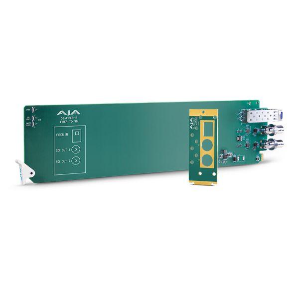 AJA openGear 1-Channel Single-Mode LC Fiber to 3G-SDI Receiver