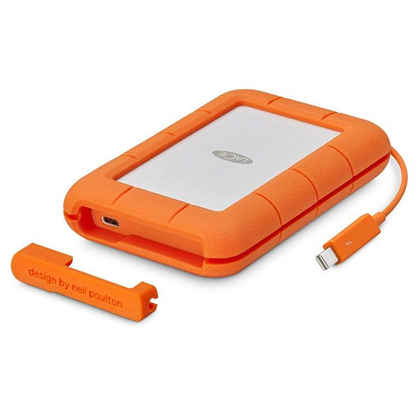LaCie 1TB Rugged Thunderbolt & USB-C Portable SSD Drive
