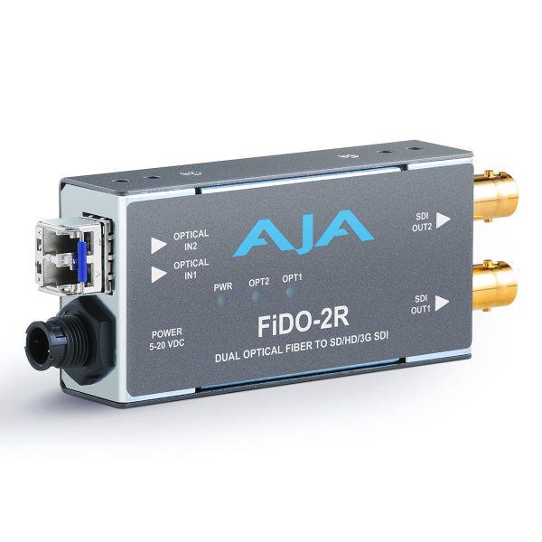 AJA 2-Channel Single Mode LC Fiber to 3G-SDI Receiver