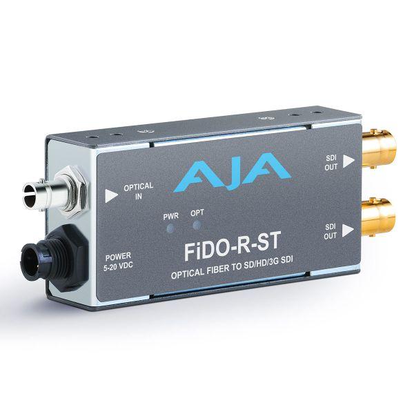 AJA 1-Channel Single-Mode ST Fiber to 3G-SDI Receiver