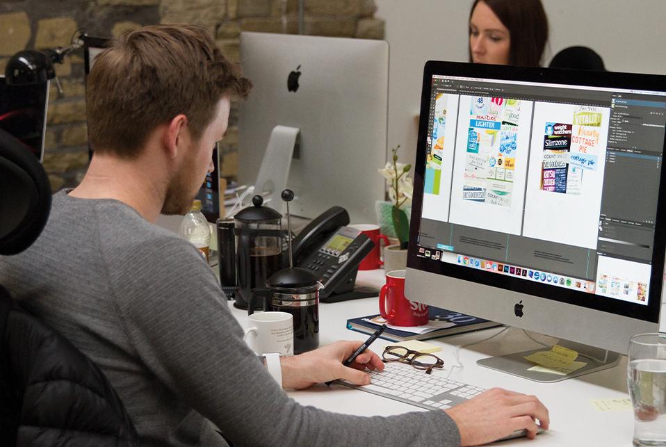 Creative team using Adobe Creative Cloud