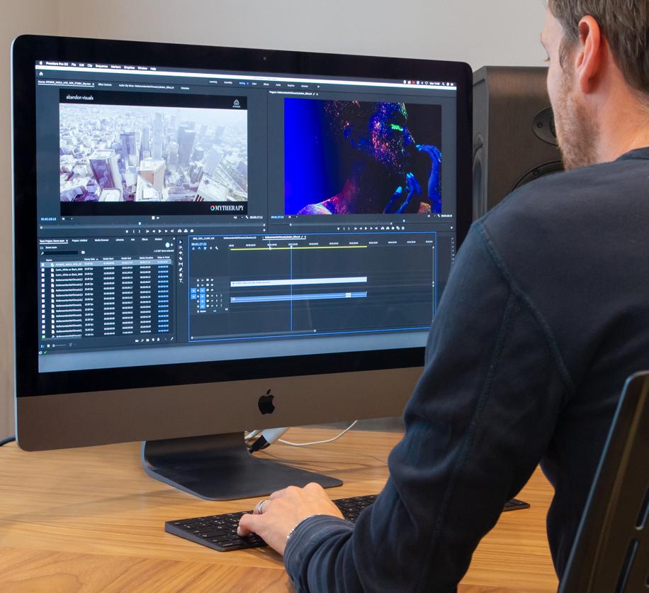 Premiere Pro creativity on iMac