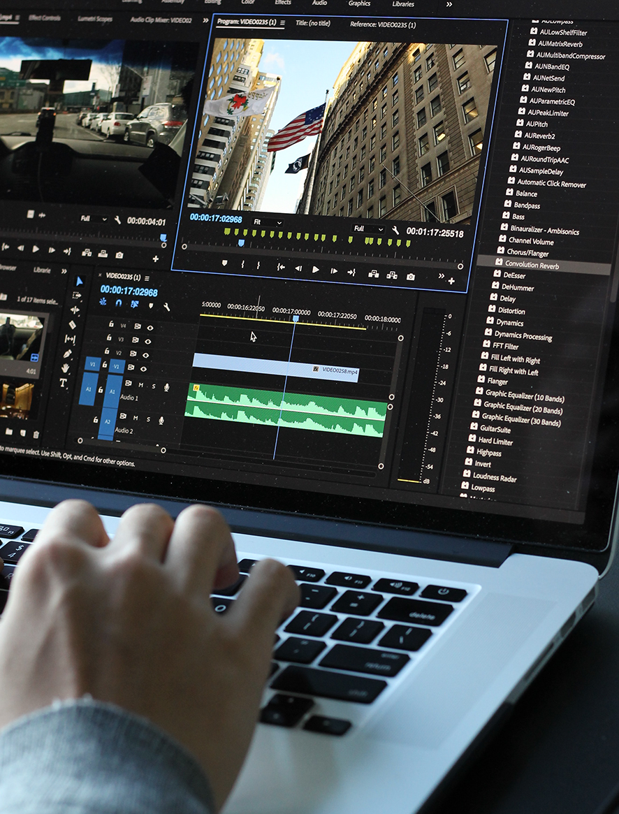 Premiere Pro on a MacBook Pro