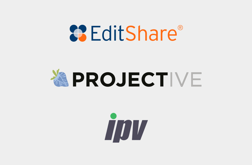EditShare, Projective and IPV logos