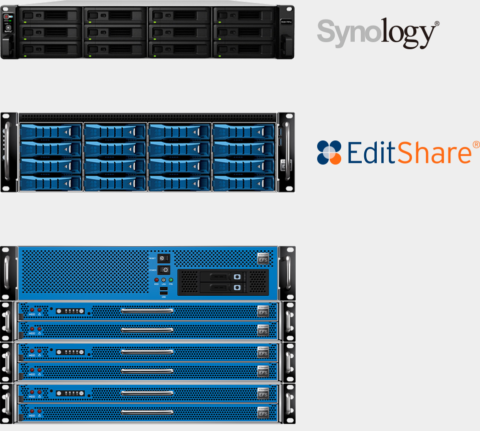 Storage options from Synology and EditShare
