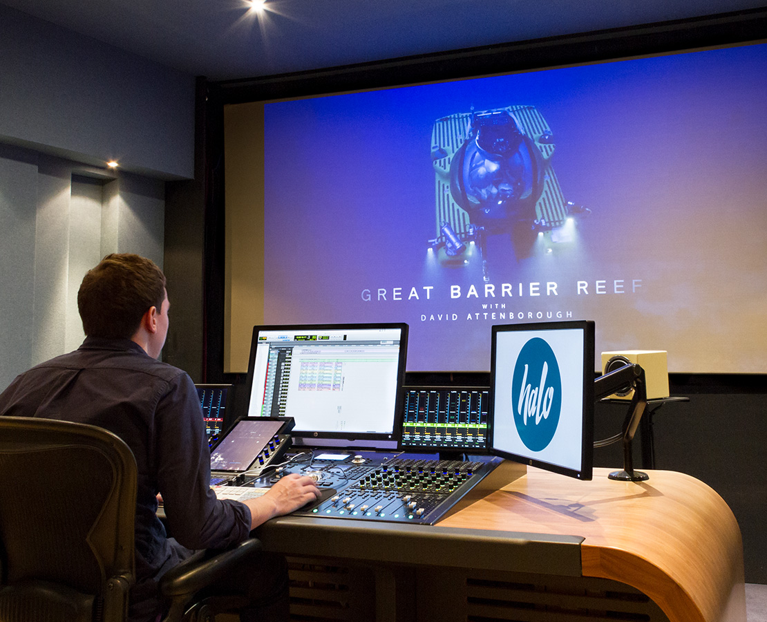 Halo post production studios with Avid S6