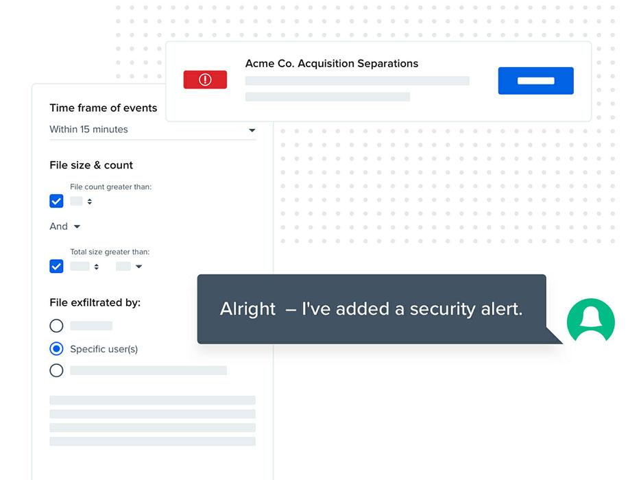Code42 screenshot security alert